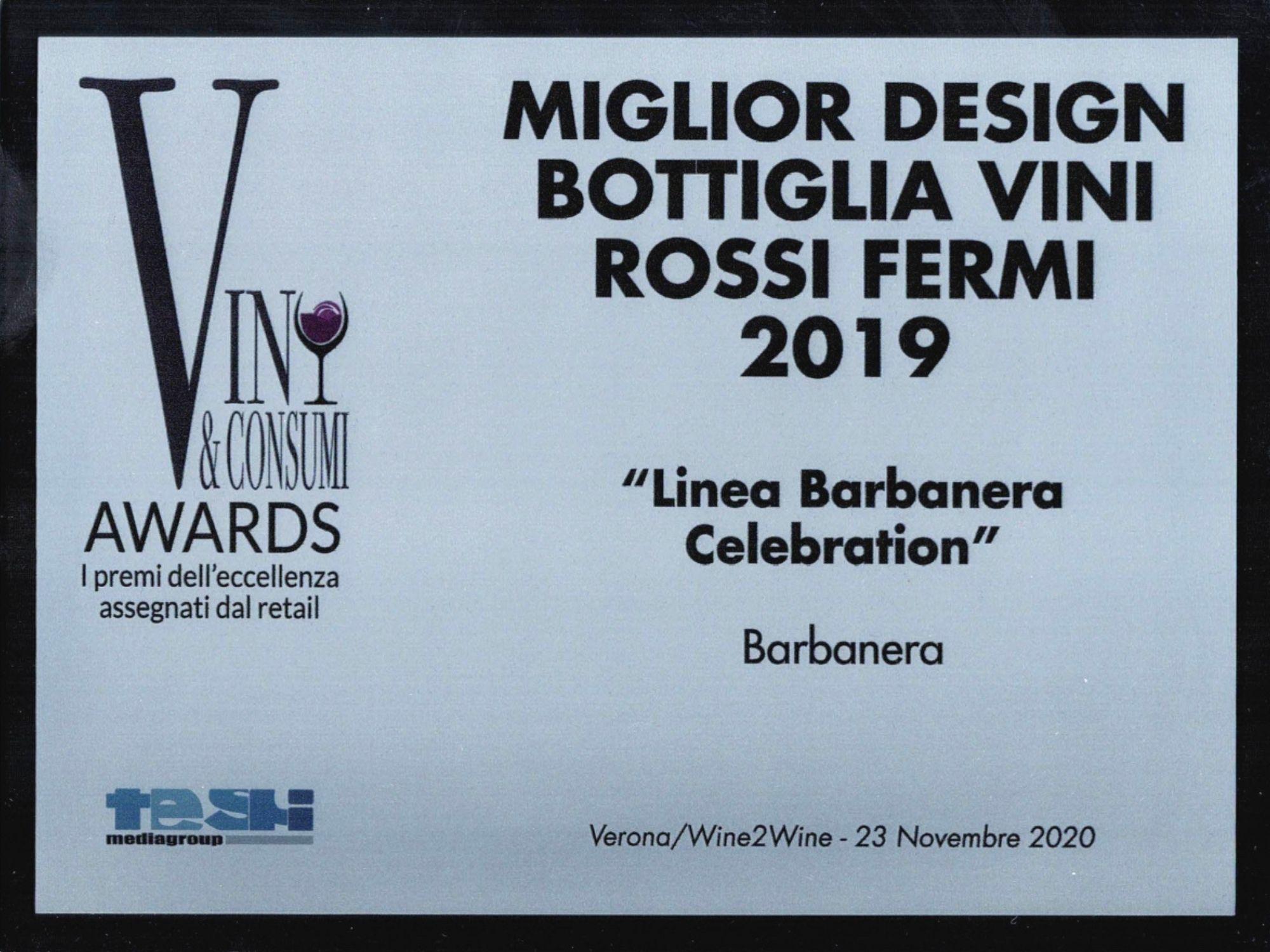 Miglior Design Bottiglia Vini Rossi Fermi 2019