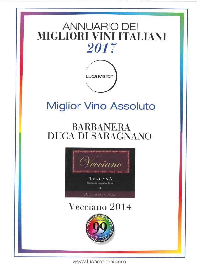 Miglior Vino in Assoluto 2017